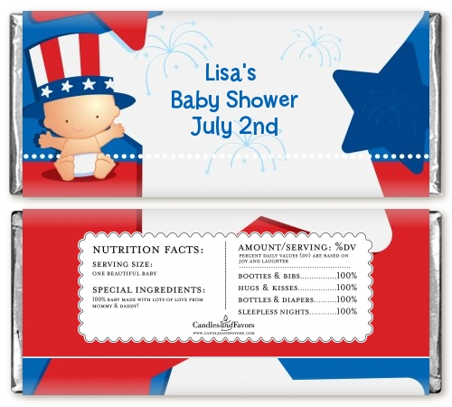 May The Fourth Be With You Baby Shower: Fourth Of July Little Firecracker Baby Shower Candy Bar