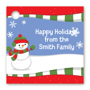 Frosty the Snowman - Personalized Christmas Card Stock Favor Tags