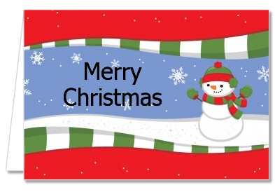 Frosty the Snowman - Christmas Thank You Cards