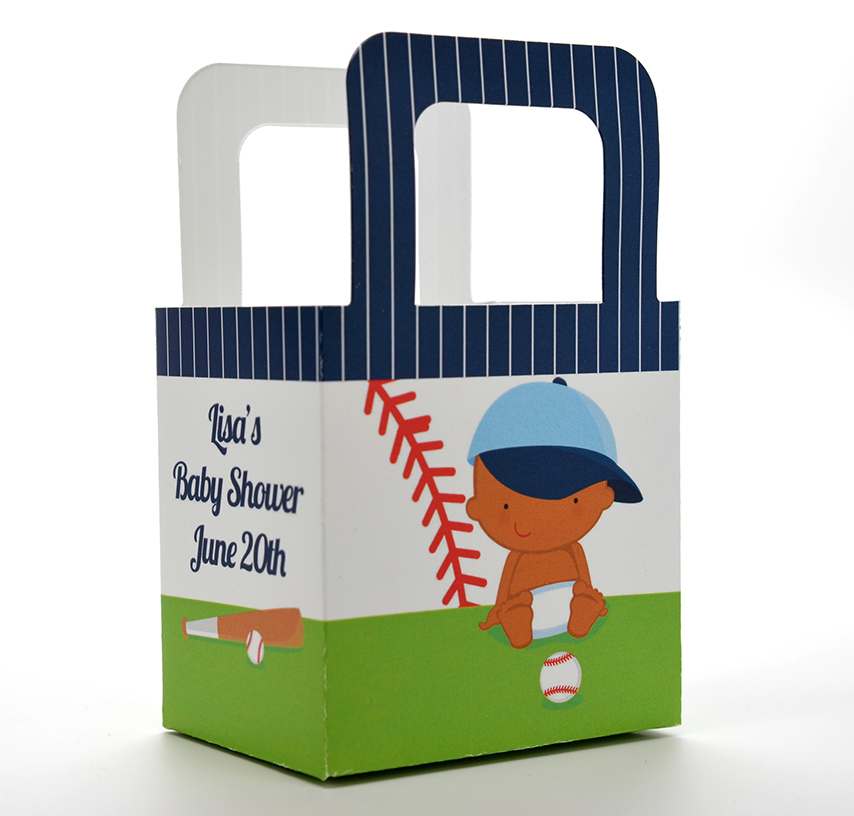 Future Baseball Player - Personalized Baby Shower Favor Boxes Caucasian