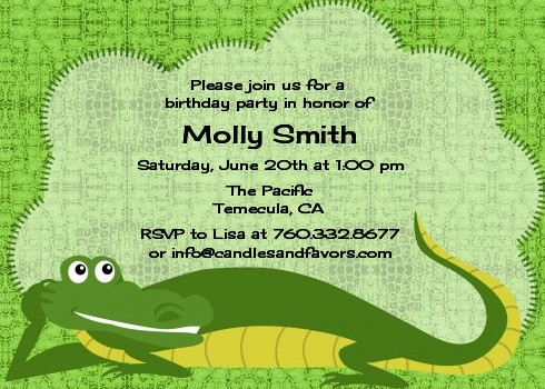 Gator birthday party invitations candles and favors gator birthday party invitations filmwisefo