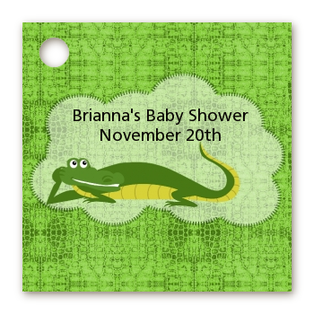 Gator - Personalized Baby Shower Card Stock Favor Tags