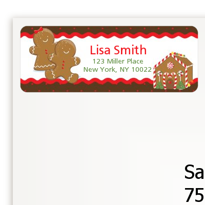 gingerbread house christmas return address labels christmas return