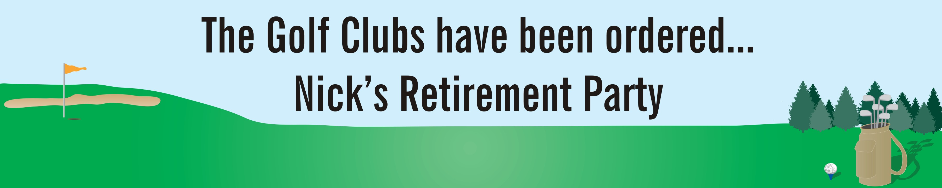 retirement signs banners