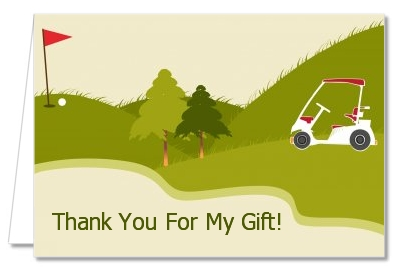birthday party thank you cards golf cart thank you notes