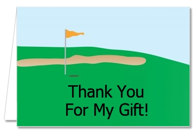 retirement party thank you cards golf thank you notes