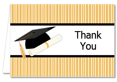 Graduation Cap - Graduation Party Thank You Cards