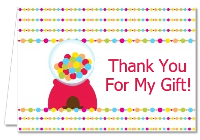 Gumball - Birthday Party Thank You Cards