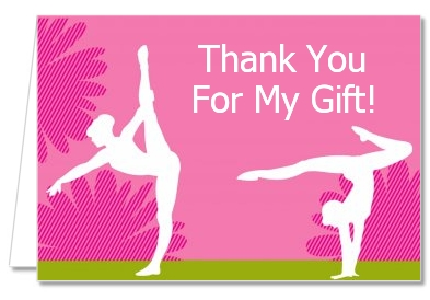 Birthday Party Thank You Cards | Gymnastics Thank You Notes