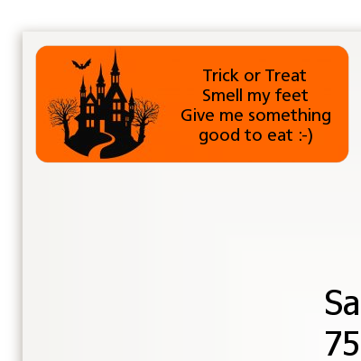Haunted House - Halloween Return Address Labels