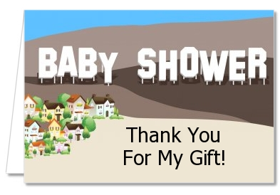 baby shower thank you cards hollywood sign thank you notes