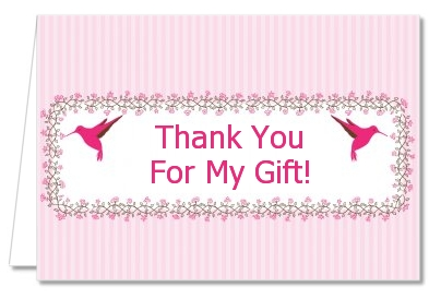 Hummingbird - Baby Shower Thank You Cards