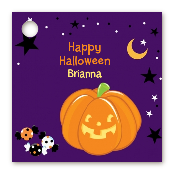 Jack O Lantern - Personalized Halloween Card Stock Favor Tags