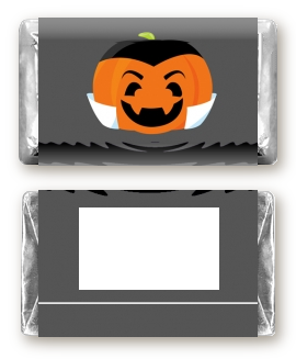 Jack O Lantern Vampire - Personalized Halloween Mini Candy Bar Wrappers