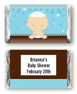 jewish baby boy baby shower miniature candy bar wrappers