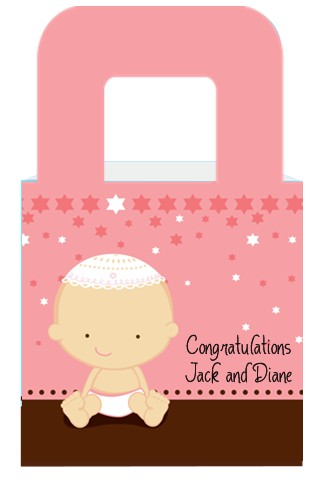 jewish baby girl baby shower goodle bags candles favors