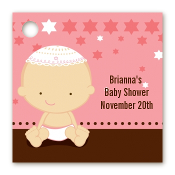 Jewish Baby Girl - Personalized Baby Shower Card Stock Favor Tags