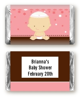 jewish baby girl baby shower miniature candy bar wrappers