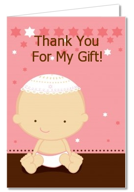 baby shower thank you cards jewish baby girl thank you notes