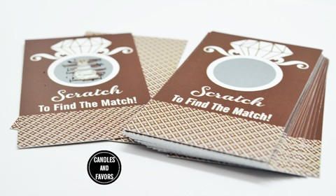 Engagement Ring Chocolate Brown - Bridal Shower Scratch Off Tickets