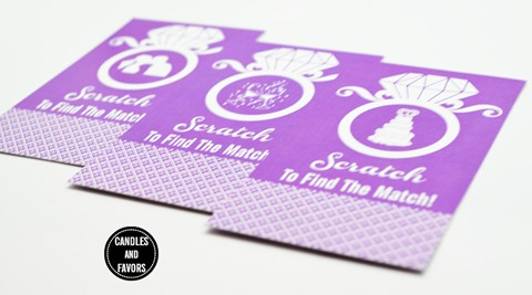 Engagement Ring Orchid - Bridal Shower Scratch Off Tickets