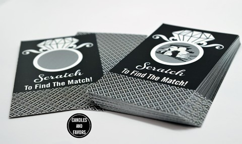 Engagement Ring Black - Bridal Shower Scratch Off Tickets