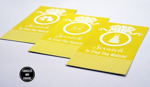 Engagement Ring Yellow - Bridal Shower Scratch Off Tickets