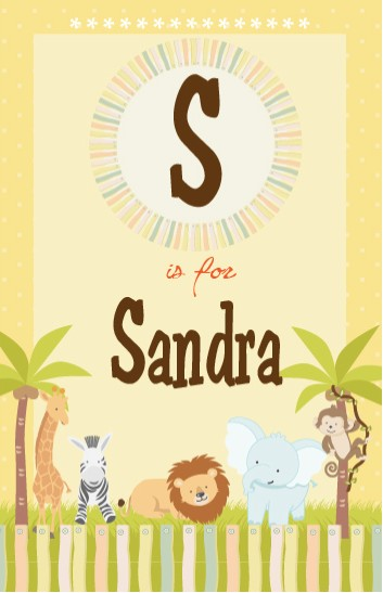 Jungle Safari Party - Personalized Baby Shower Nursery Wall Art