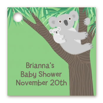 Koala Bear - Personalized Baby Shower Card Stock Favor Tags