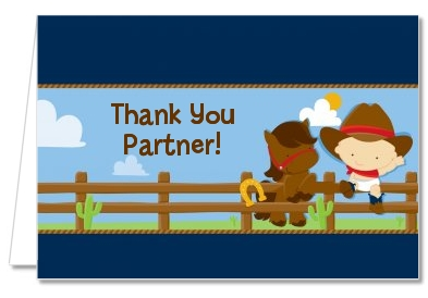 Baby Shower Thank You Cards Little Cowboy Thank You Notes