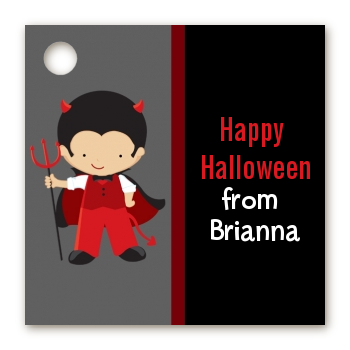 Little Devil - Personalized Halloween Card Stock Favor Tags