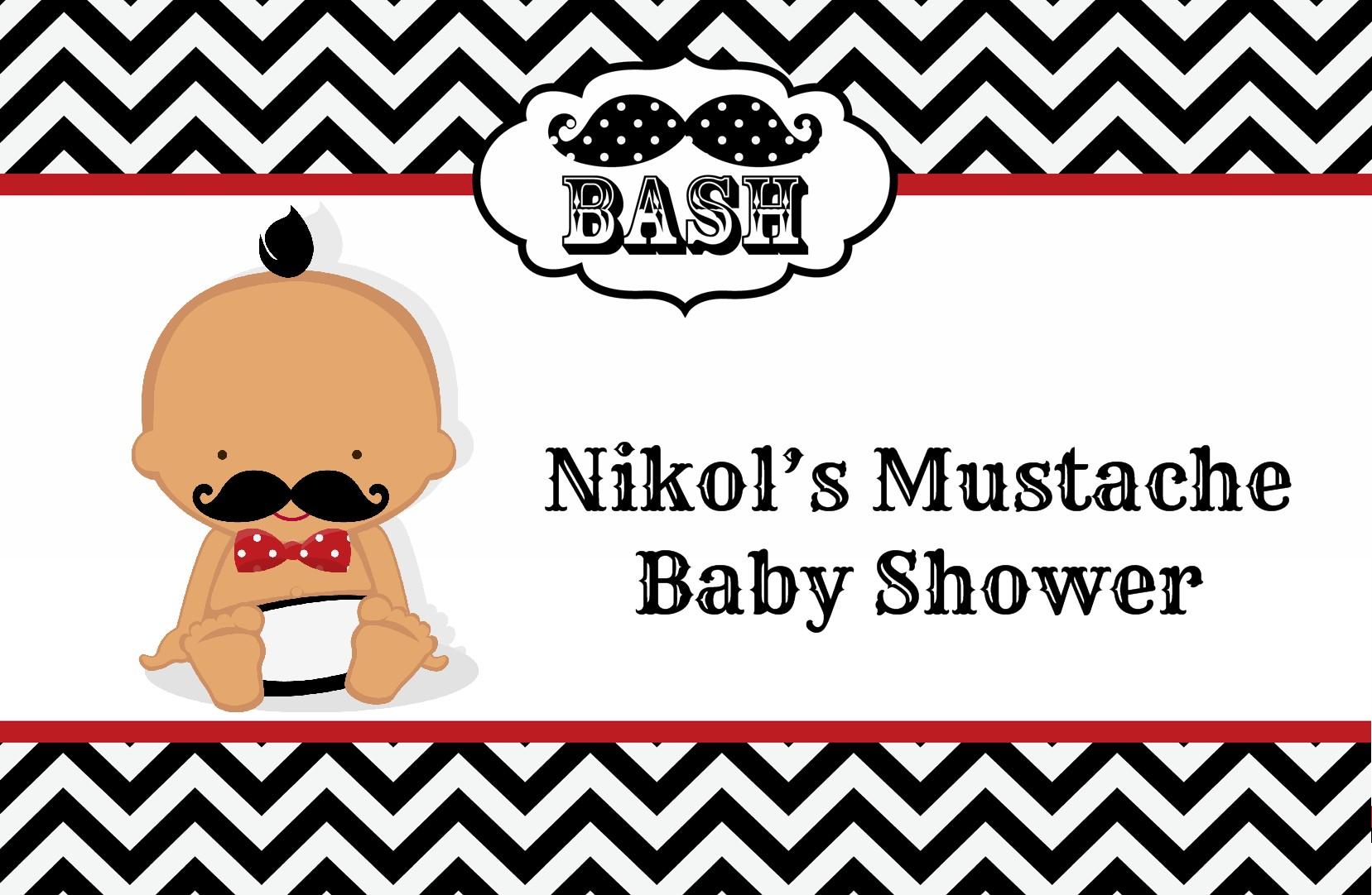 Little Man Mustache Black/Grey Baby Shower Place Mats | Little Man ...