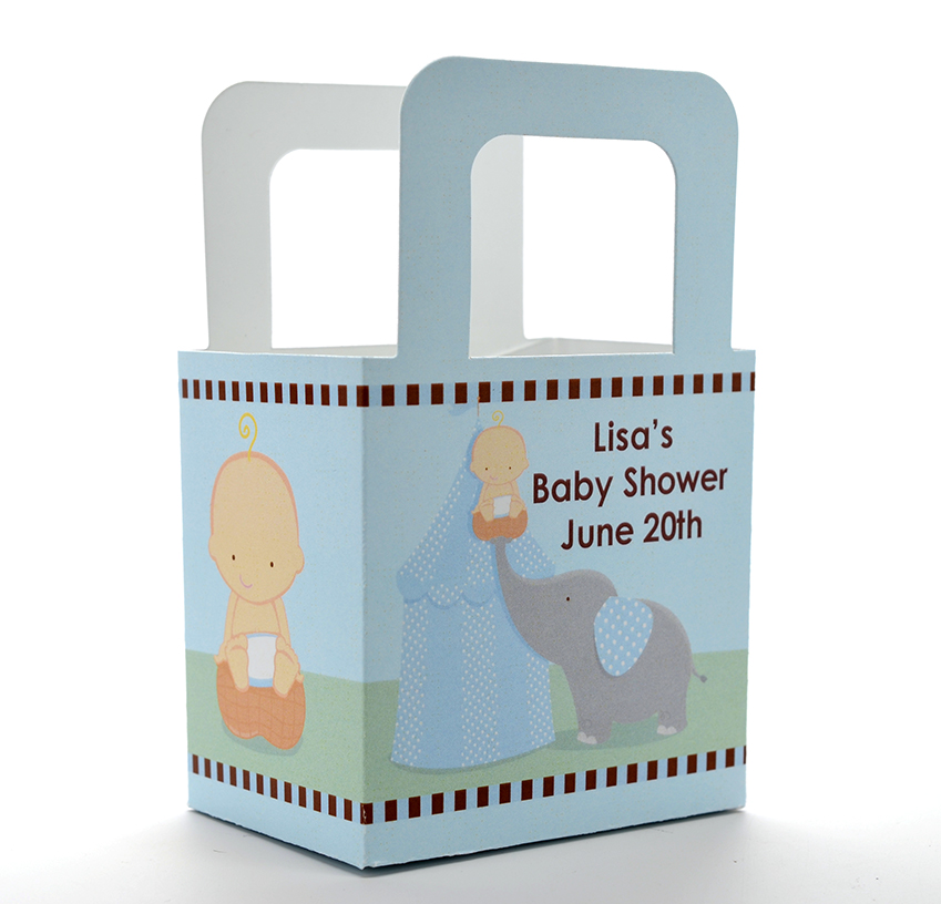 our little peanut boy baby shower goodle bags candles