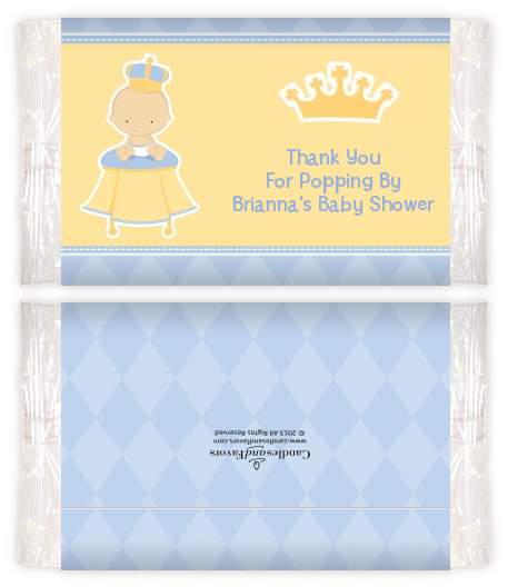 Little Prince Baby Shower Popcorn Wrappers Baby Shower Popcorn
