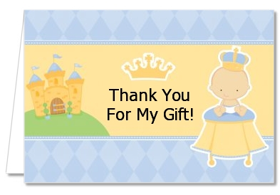 Little Prince - Baby Shower Thank You Cards