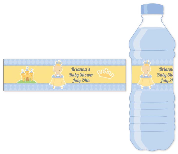 Little Prince Water Bottle Label Baby Shower Water Bottle Stickers