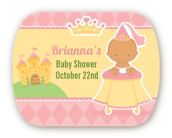 Little Princess Hispanic - Personalized Baby Shower Rounded Corner Stickers