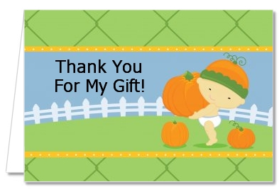 Little Pumpkin Asian - Birthday Party Thank You Cards