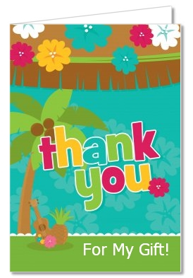 luau baby shower thank you cards