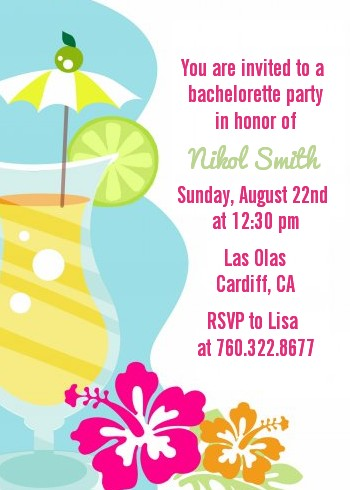 Margarita Drink - Bachelorette Party Invitations
