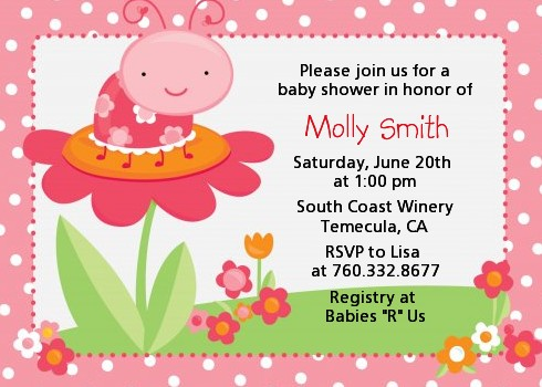 Modern ladybug pink birthday party invitations candles and favors modern ladybug pink birthday party invitations solutioingenieria Choice Image