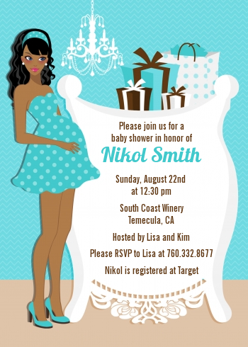 Modern Mommy Crib Its A Boy Baby Shower Invitations Candles and