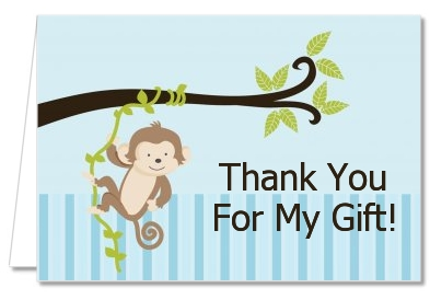 Monkey Boy   Baby Shower Thank You Cards