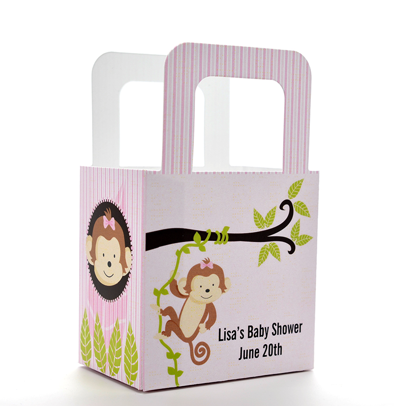 Monkey Baby Shower Party Favors: Monkey Girl Baby Shower Goodle Bags