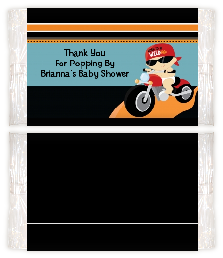 Motorcycle Baby Baby Shower Popcorn Wrappers Baby Shower Popcorn