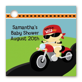 Baby Shower Favor Tags Motorcycle Baby Favor Tags