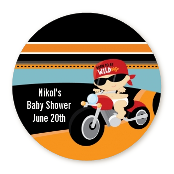 baby personalized sticker labels motorcycle baby baby shower