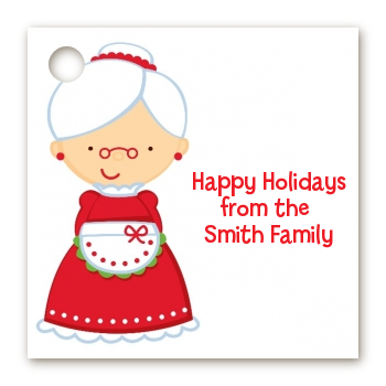 Mrs. Santa - Personalized Christmas Card Stock Favor Tags