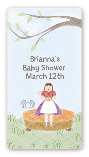 Nursery Rhyme - Lil Miss Muffett Baby Shower rectangular ...