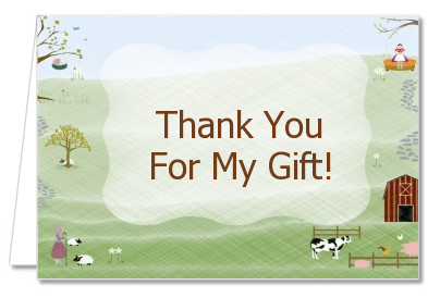 Nursery Rhyme - Baby Shower Thank You Cards